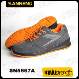 Zapatos de seguridad del deporte con el casquillo de acero de la punta