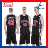Healongの熱い販売の昇華可逆メンズバスケットボールジャージー