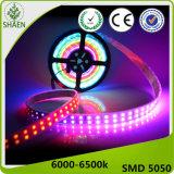 Luz de tira vendedora caliente del mercado del este LED SMD 5050 60LED