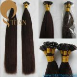 4 # Silky Straight Pre Bonded Keratin Flat Tip Hair Extension