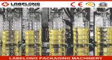 Máquina de rellenar del aceite de cocina/del aceite de oliva/del aceite de mesa con la línea de embalaje de etiquetado que capsula