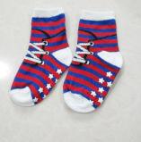 Calcetines del bebé del muchacho antirresbaladizo del pun¢o flojo del algodón del bebé 100