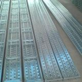 tablones del metal del andamio de la tarjeta del andamio de 240X38m m que recorren