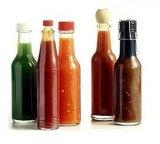 bottiglia di vetro della salsa 250ml con la capsula del metallo/bottiglia di vetro della salsa di peperoncino rosso