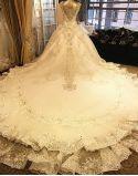 Платья венчания CS3 шнурка способа Vestidos мантий шарика кристаллов Bridal
