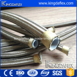 Tuyau flexible en téflon renforcé en acier inoxydable flexible