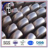 Guarnición de acero del Bw codo del radio del cortocircuito del acero de carbón de 90 grados