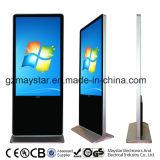 55inch Soporte libre de la pantalla del cable de red WiFi 3G LED Publicidad