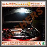 Batterie au lithium 3.7V2200mAh légère rechargeable imperméable à l'eau de la lumière S.O.S. de travail de 5W DEL