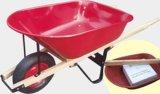 대중적인 캐나다 목제 손잡이 외바퀴 손수레 Wh6601