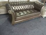 イギリスのソファー、革ソファー、ロビーのソファー(6806)