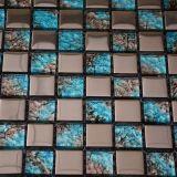 새로운 디자인 파란 수정같은 유리 혼합 금속 모자이크 타일 벽 훈장 모자이크
