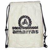 El lazo de nylon personalizado de la gimnasia de la promoción 210d Backpacks el bolso de lazo