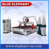 Ranurador publicitario de acrílico modificado para requisitos particulares 1533 del CNC del Atc de la talla con el colector de polvo