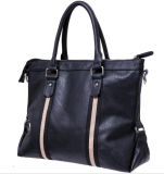 Nero Mens Borsa in pelle Laptop
