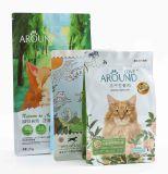 유연한 플라스틱 지퍼는 애완 동물 먹이를 위한 쿼드 주머니를 위로 서 있다