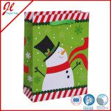 Sacchetti semplici del regalo di natale del pupazzo di neve del sacco di carta di Jingli
