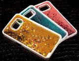 Do PC acessório da caixa 3D do telefone de pilha do telefone móvel caixa líquida do Quicksand da areia para Samsung S5/S6/S7 para Samsung J2/J4/J5/J7