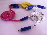 Nylongewebe-Flechte Flalt Mikro-USB-Kabel für Huawei