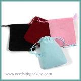 Sacchetto viola di lusso del velluto del sacchetto del regalo del velluto per il pacchetto dei monili