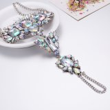 O estilo ocidental exagerou a prata antiga bonita de cristal o Anklet chapeado
