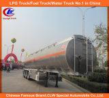 3 반 차축 42000L 스테인리스 연료유 탱크 트레일러