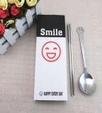La cuillère de fourche de Tableau de face de sourire a placé le PC 6 par acier inoxydable 304/201 de jeu