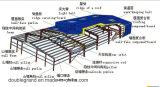 Costruzione industriale, commerciale e residenziale prefabbricata della struttura d'acciaio