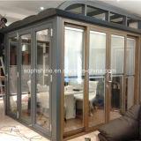 Doppeltes ausgeglichenes Glas mit Licht stellte durch motorisierte Vorhänge nach innen ein