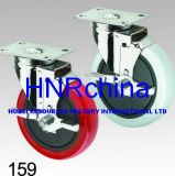 Grauer Belüftung-Rad-Schwenker mit Verriegelungsplatten-Oberseite-Fußrolle