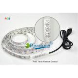 RGB 백색 온난한 백색 1m 텔레비젼 배경 점화 DC5V 5050 3528 USB LED 지구 빛
