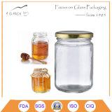 Vasi di vetro del miele di vendita diretta della fabbrica con la protezione dell'aletta