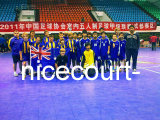 Nicecourt bewegliches Futsal Gerichts-Material für Sportereignis-Konkurrenz (Nicecourt- Goldsilber-Bronze)