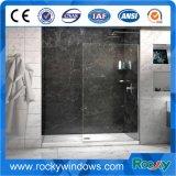 Conception de salle de douche en verre trempé haute température