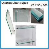 端作業磨かれた緩和された棚ガラス