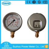 demi d'indicateur de pression rempli d'huile d'acier inoxydable de 60mm