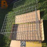 Cesta soldada ou sextavada da gaiola de pedra de fio da rede de Gabion