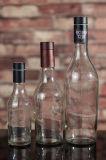 Bottiglia rotonda della vodka del silice eccellente con la protezione del sughero