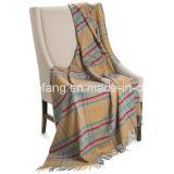 Шерстяное чисто новое одеяло хода шерстей шотландки