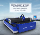 machine de découpage de laser de fibre de tube/pipe en métal de 2000W Lm3015m