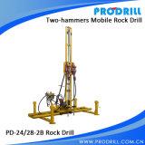 Vertical와 Horizontal Drilling를 위한 압축 공기를 넣은 Mobile Rock Drill