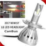 Farol elevado do diodo emissor de luz de Lumin 4800lm H7 do ventilador poderoso de alumínio da carcaça