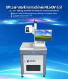 De klant adviseerde Model UV Laser die Machine muv-3 voor de Materiële Gravure van het Metaal en Nonmetal met Uitstekende kwaliteit merken