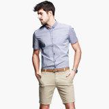 Overhemd met Knoop onderaan Kraag 100% het Katoenen van Mensen Slanke Geschikte Overhemd van Overhemden
