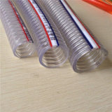 Transparentes PVC Spiral Strength Hose für Industrial/Farm Using