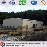 Atelier préfabriqué de structure métallique pour des processus industriels