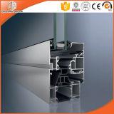 Bronzefarben-Aluminiumflügelfenster-Fenster mit Doppelverglasung-Glas, ausgezeichnete Qualitätsaluminiumfranzosen