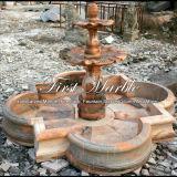 Fontaine rouge Mf-1018 de Ny de fontaine de pierre de granit de marbre de fontaine