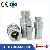 Type proche couplage rapide hydraulique en laiton convenable hydraulique d'acier inoxydable de connecteur de tuyau flexible