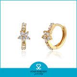 Brincos de cristal da aro da prata elegante popular da forma (E-0161)